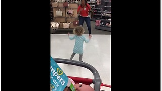Target Employee Has Impromptu Dance Party With Toddler - Video
