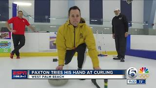 Paxton Gives Curling A Try - Video