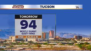 Chief Meteorologist Erin Christiansen's KGUN 9 Forecast Monday, October 23, 2017 - Video