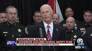 Gov. Scott outlines school safety plan in Palm Beach County speech - Video