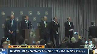 Report: Dean Spanos advised to stay in San Diego - Video