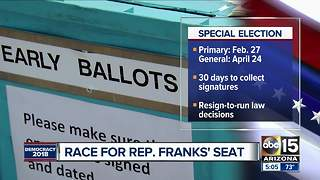 Dates announced for Rep. Frank's seat - Video