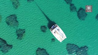 Exotic drone footage of the largest beach in Athens, Greece