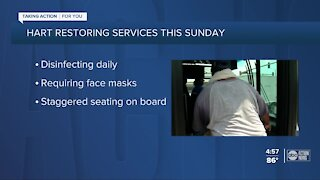 HART restoring regular service schedules for all local routes this Sunday