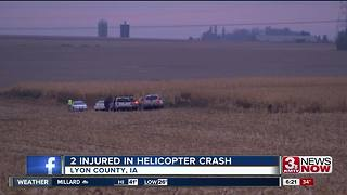 Two injured in helicopter crash - Video