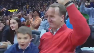 Watch Peyton Manning's Son Steal The Show At A Nuggets Game - Video
