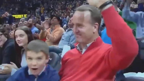Watch Peyton Manning's Son Steal The Show At A Nuggets Game