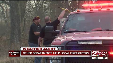 Firefighters from other counties help with wildfires