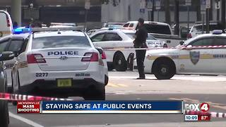 Staying safe at public events - Video