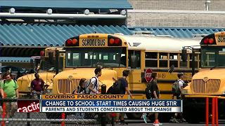 Pasco County changes some school start times