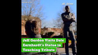 Jeff Gordon Visits Dale Earnhardt's Statue in Touching Tribute