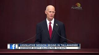 Governor Scott calls for tax and fee cuts during final State of the State speech - Video