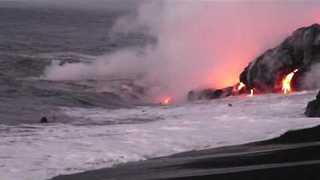Early Morning Swim in Kilauea's Lava Zone Offers Break From Routine - Video