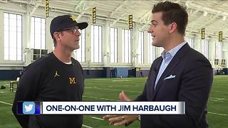 Jim Harbaugh tells WXYZ Michigan will assess QB battle when Speight is healthy - Video
