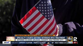 Specialty courts getting veterans into treatment - Video