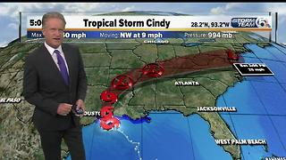 Tropical Storm Cindy update 6/21/17 - 5pm