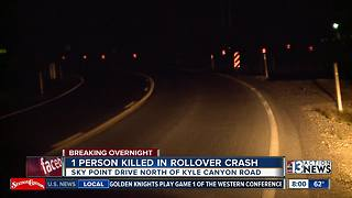 1 teen killed after truck rolls over near Kyle Canyon, Sky Pointe - Video