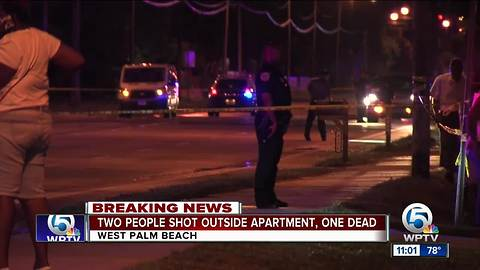 2 people shot outside West Palm Beach apartment, one dies
