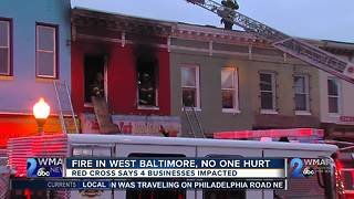Fire in West Baltimore - Video