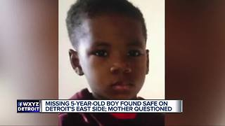 Detroit police locate missing 5-year-old boy on east side - Video