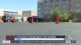 College students move into dorms at UNLV