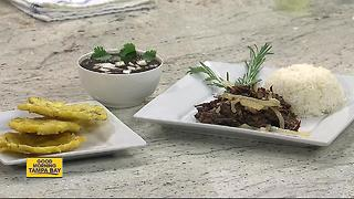 Las Palmas Cafe chef whips up classic Cuban dish, Vaca Frita - Video