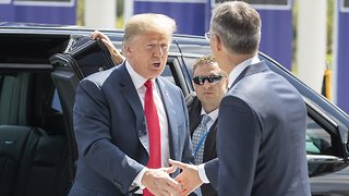 Trump Calls On NATO Countries To Up Defense Spending To 4 Percent - Video