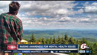 Fishers man raising awareness for mental health issues - Video
