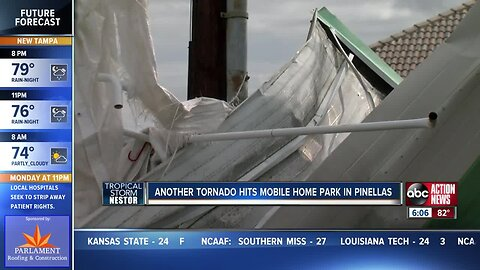 Tornado damages multiple mobile home parks in Pinellas County