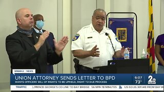 Union attorney sends letter to BPD