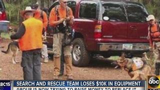 Search and rescue nonprofit needs donations after trailer stolen - Video