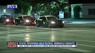 FHP troopers patrol Seminole Heights as Gov. Scott makes surprise visit - Video