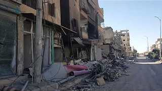 Destruction in Streets of Raqqa After SDF Victory - Video