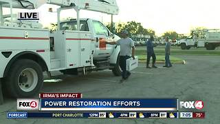 LCEC gives an update on power restoration efforts in Southwest Florida - Video