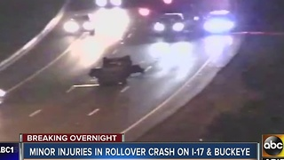 Several people injured overnight in a rollover crash near I-17 and Buckeye Rd - Video