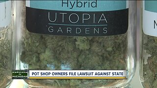 Pot shop owners file lawsuit against the state of Michigan