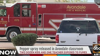 Students at Canyon Breeze Elementary affected by pepper spray - Video