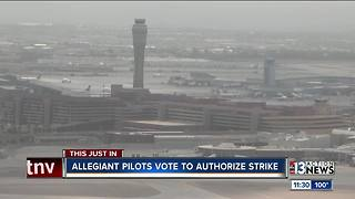 Allegiant Air pilots vote to authorize strike - Video