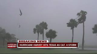 Hurricane Harvey strengthens to Cat 4, Texas prepares for 'life-threatening storm' - Video