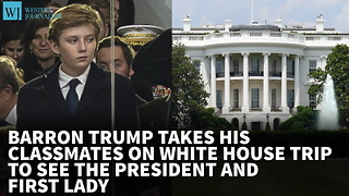 Barron Trump Takes His Classmates On White House Trip To See The President And First Lady - Video