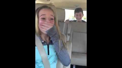 Brother Pops Out From Car Trunk To Surprise Sister On Her Birthday