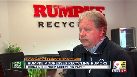 Contrary to rumors, Rumpke is still recycling