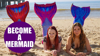 Sea lovers can BECOME MERMAIDS thanks to a beach babe - Video