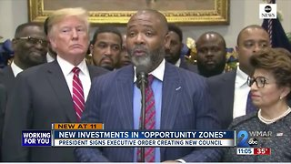 "President Trump signs new Investments In ""Opportunity Zones"""