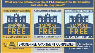 Local group encouraging apartment complexes to ban smoking - Video