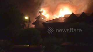 Huge fire guts iconic Yangon hotel - Video