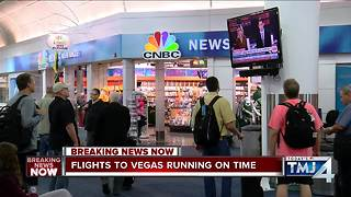 Flights from Milwaukee to Vegas operating on time following shooting - Video