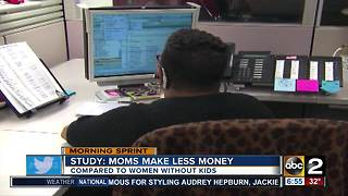 Study: Mom's make less money