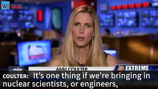 Ann Coulter Asks The 1 Question No One Else Will... What Do We Get Out Of Accepting Refugees - Video