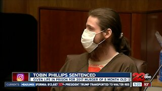Tobin Phillips sentenced to life in prison for murder of 8 month old